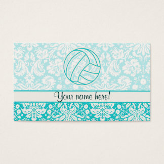 Volleyball; Cute Teal Business Card