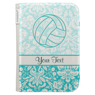 Volleyball; Cute Teal Kindle Folio Case