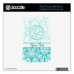 Volleyball; Cute Teal Skins For iPod Touch 4G