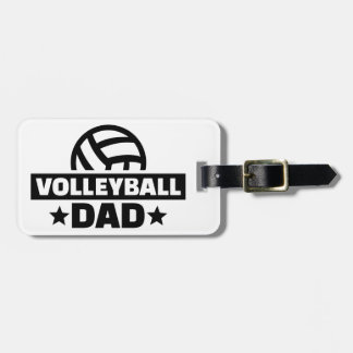 Volleyball dad bag tag