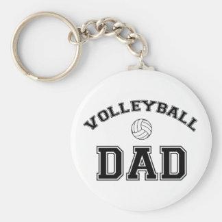 Volleyball Dad Basic Round Button Keychain