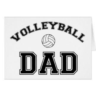 Volleyball Dad Greeting Card