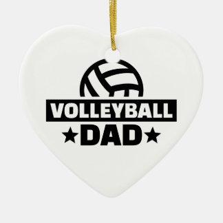 Volleyball dad ceramic ornament