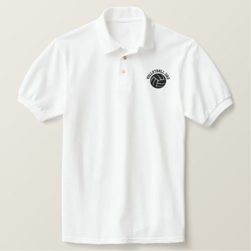 VolleyBall Dad Embroidered Polo Shirt