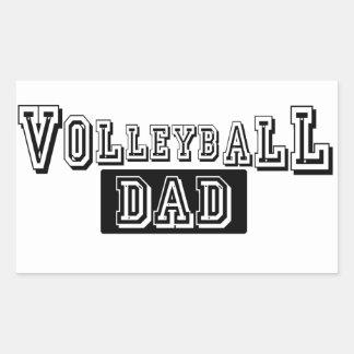 Volleyball Dad Rectangular Sticker