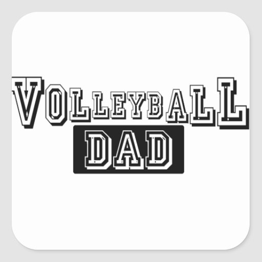 Volleyball Dad Square Sticker