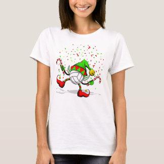 Volleyball Dancing Christmas Elf T-Shirt