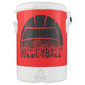 Volleyball Dark Grunge Igloo Beverage Dispenser