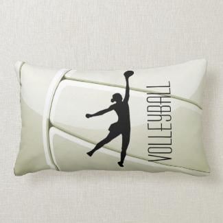 Volleyball Design Throw Pillow