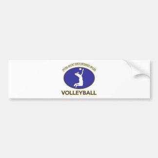 volleyball Designs Car Bumper Sticker