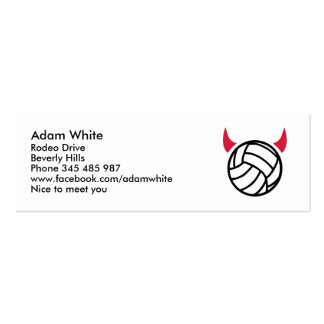 Volleyball devil Double-Sided mini business cards (Pack of 20)