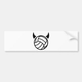 Volleyball devil car bumper sticker
