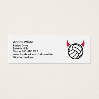 Volleyball devil mini business card