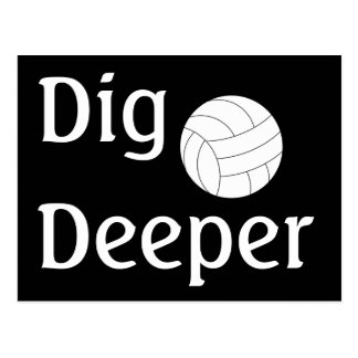 Volleyball Dig It Postcard