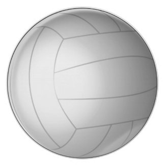 Volleyball Dinner Plate