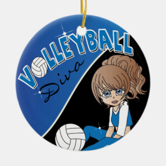 Volleyball Diva Girl Ornaments