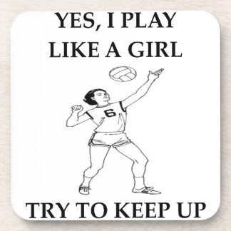 volleyball drink coaster