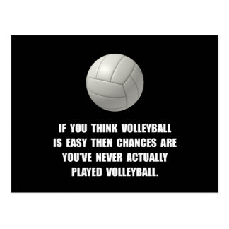 Volleyball Easy Postcard