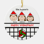 VolleyBall Family 3 (girl) Personalize Ornament
