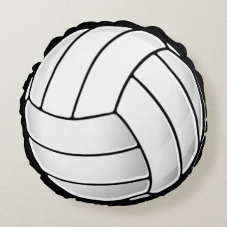 Volleyball Fan Round Pillow