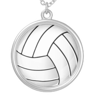 Volleyball Fan Silver Plated Necklace