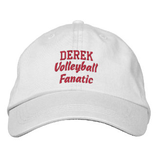 Volleyball Fanatic Custom Name Embroidered Baseball Cap