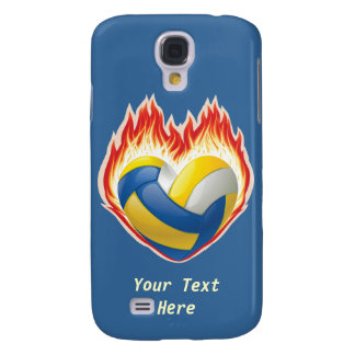 Volleyball Fire (customizable) Samsung Galaxy S4 Cover