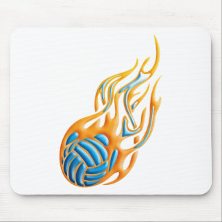 Volleyball Fireball Mouse Pad