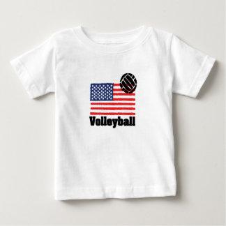 Volleyball flag USA - Volleyball coach men women Baby T-Shirt