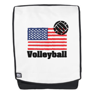 Volleyball flag USA - Volleyball coach men women Backpack