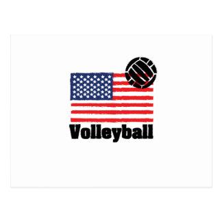 Volleyball flag USA - Volleyball coach men women Postcard