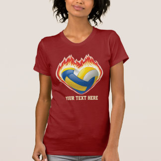 Volleyball Flame (personalized) T-Shirt