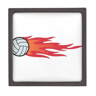 Volleyball Flames Gift Box