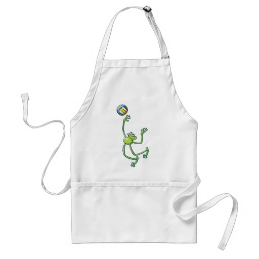 Volleyball Frog Adult Apron