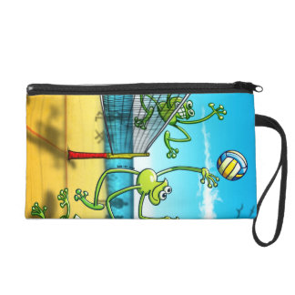 Volleyball Frog Wristlet Purse