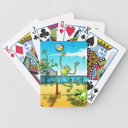 Volleyball Frog Bicycle Playing Cards