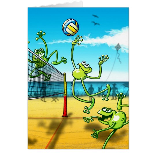 Volleyball Frog Card
