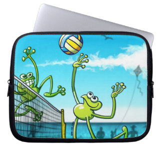 Volleyball Frog Computer Sleeve