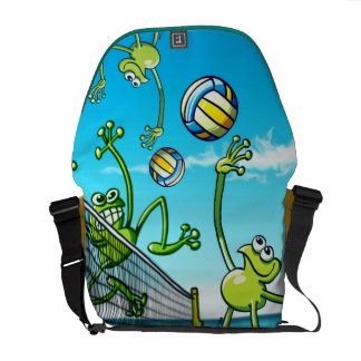 Volleyball Frog Courier Bag