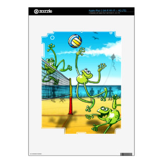 Volleyball Frog Decals For iPad 3