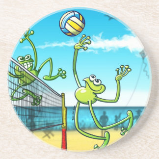 Volleyball Frog Drink Coaster