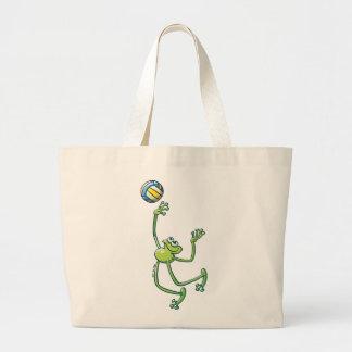 Volleyball Frog Jumbo Tote Bag