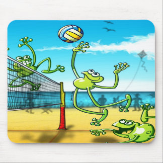 Volleyball Frog Mouse Pad
