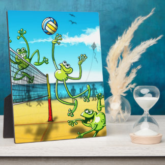 Volleyball Frog Plaque