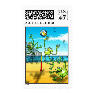 Volleyball Frog Postage