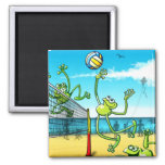 Volleyball Frog Refrigerator Magnet