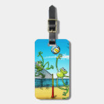 Volleyball Frog Travel Bag Tag