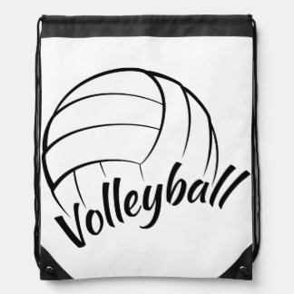 Volleyball Fun Drawstring Backpack