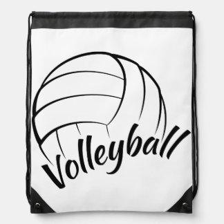 Volleyball Fun Drawstring Backpacks
