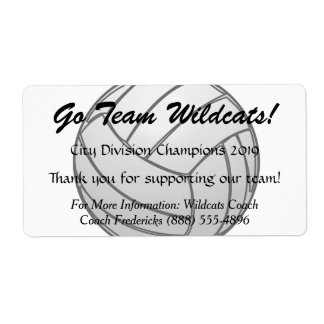 Volleyball Fundraiser Bottle Labels
